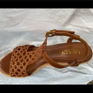 Women's Ralph Lauren size 9.5 Chestnut Brown Wedge